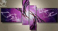 Check out this 4 Piece Royalty Abstract  painting from By Hand of Kenya now available with many other paintings at www.nuerasamp.com.