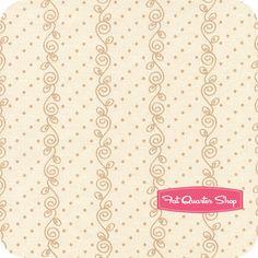 Pajama Party Tan Swirly Vine Dots Yardage SKU# 5826-44 - Fat Quarter Shop