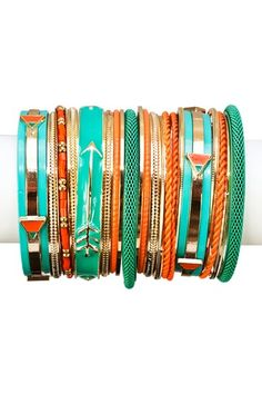 Future Bangle Set by Top It Off: Vibrant Jewelry Shop on @HauteLook