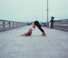 The Koa top doing some yoga moves