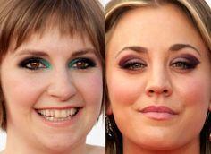 Maquiagem Emmy Lena Dunham, Kaley Cuoco!