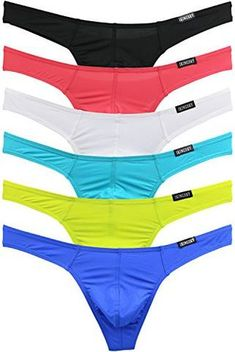 ad5c3f6d2e2c iKingsky Men's Sexy Comfort G-string Sexy Low Rise Thong Pack of 6 (Medium,  Colors 1). Comfy PantsMen's BriefsG StringsCotton UnderwearMale ...