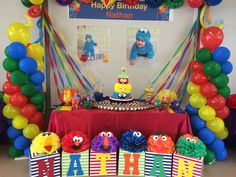 Birthday invitations diy boy sesame streets 62 New Ideas Birthday Party Table Decorations, Birthday Party Tables, 2nd Birthday Parties, Sesame Street Party, Sesame Street Birthday, Elmo First Birthday, Birthday Diy, Birthday Wishes, Cookie Monster Party