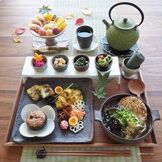 Cute Food, I Love Food, Yummy Food, Japanese Dishes, Japanese Food, Food Menu, Food Design, Food Presentation, Food Plating