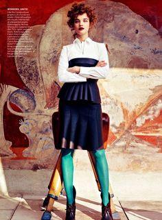 Natalia-Vodianova-styled-by-Grace-Coddington-for-Vogue | Angelical Natalia Vodianova ~ ANV