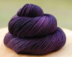 Blackcurrant Jam purple gray muscadine sock yarn indie dyer springtree road top down magic loop toe up sock knitting crochet fingering weight 003
