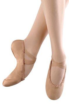 Bloch girls split sole pump ballet shoe. Fabric: Upper: Cotton Canvas Sole: Leather
