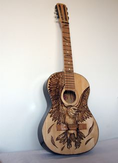 "Painted guitar by Aspasija T. P. ""Eagle"""