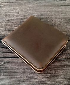 Mens leather wallet, handmade production, made of genuine cow leather. Available in 4 colors on Etsy Leather Accessories, Cow Leather, Leather Wallet, Colors, Handmade, Bags, Etsy, Unique Jewelry, Handbags