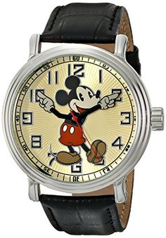 Disney Vintage Mickey Mouse 56109. Reloj con brazalete negro de cuero Ewatchfactory http://www.amazon.com.mx/dp/B004TOXP3W/ref=cm_sw_r_pi_dp_by3Ewb03SS7EP