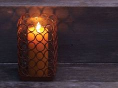 Rustic Ring Candle Holders.