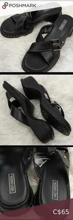 I just added this listing on Poshmark: Harley-Davidson Women's Black Leather Sandals. Black Leather Sandals, Women's Shoes Sandals, Harley Davidson, Best Deals, Closet, Shopping, Things To Sell, Style, Fashion