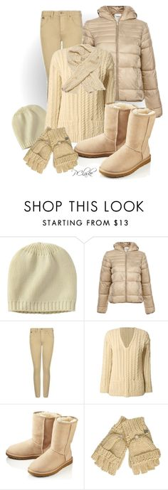 """""""Creamy Textures"""" by kittydub ❤ liked on Polyvore featuring mode, Uniqlo, Pull&Bear, Burberry, ALL Knitwear, UGG Australia, Lipsy et BDG"""