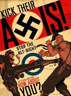World War II propaganda posters - Gallery Kick Fritz Where It Hurts! Creative Poster Design, Creative Posters, Poster Designs, Art Vintage, Vintage Posters, Ww2 Propaganda Posters, Political Posters, Comic Anime, Retro Poster