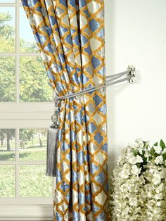 Maia Geometrical Rod Pocket Velvet Curtain Holdback Velvet Curtains, Rod Pocket, Pattern, Home Decor, Decoration Home, Room Decor, Patterns, Model, Home Interior Design