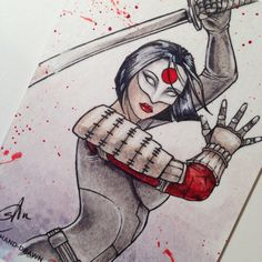 Katana  DC Women of Legend  Artist Proof Sketch by TheRealmofsAm