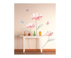Sticker in vinile pink flowers II - 50x70 cm | Dalani Home & Living