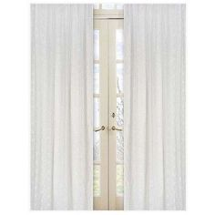 Sweet Jojo Designs Eyelet White Curtain Panels