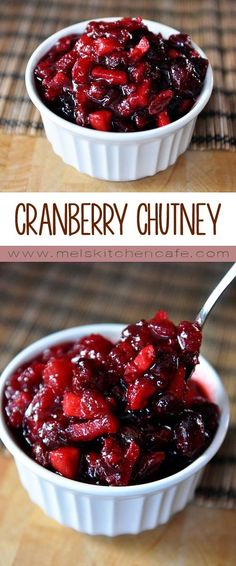 This recipe transforms boring ol' cranberry sauce to a fantastic cranberry chutney. Your Thanksgiving will never be the same. This recipe transforms boring ol' cranberry sauce to a fantastic cranberry chutney. Your Thanksgiving will never be the same. Thanksgiving Recipes, Fall Recipes, Holiday Recipes, Cranberry Relish Recipes Thanksgiving, Holiday Foods, Thanksgiving Table, Summer Recipes, Chutneys, Canned Cranberry Sauce
