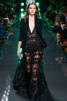black lace dress and jacket - elie saab 2015