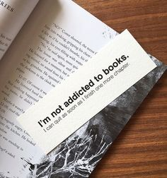 I'm not addicted to books bookmark Funny Bookmark by WonderFlies
