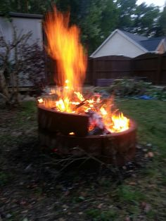 My new Recycled FirePit