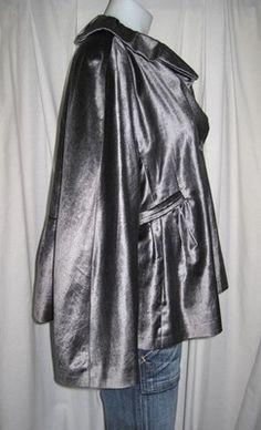~PRINGLE~ CHARCOAL GRAY VELVET, MODERN JACKET BLAZER - sz 12, Large - to be found on eBay