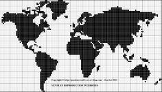 Grille gratuite point de croix : Le Monde