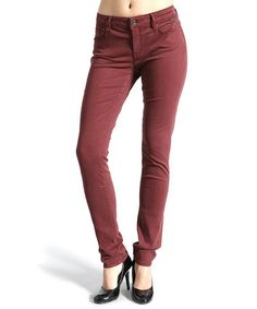 Another great find on #zulily! Burgundy Gold Alexa Skinny Jeans by Mavi #zulilyfinds