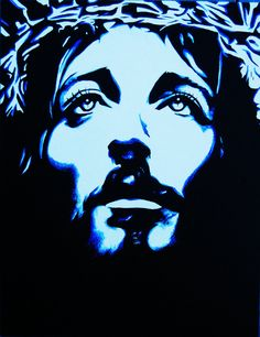modern paintings jesus | Contemporary Jesus Painting PRINT Limited by TalulaChristian