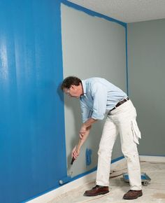 Fastest way to paint a room.