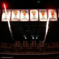 Bulls Championship Banners
