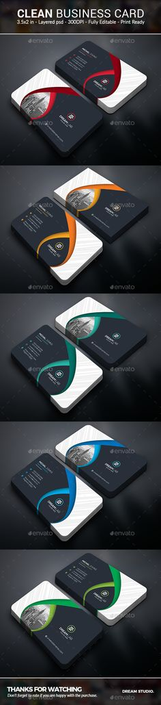 #Business #Cards - Business Cards Print Templates Download here: https://graphicriver.net/item/business-cards/19725741?ref=alena994