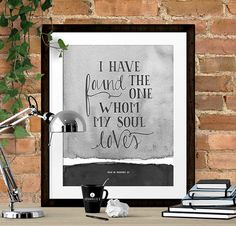 Art Wall Decor Print Bible Verse Typography Poster by SpoonLily
