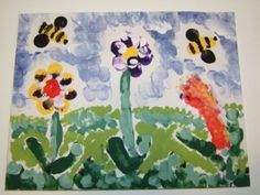 Fingerprint Bee Craft for Summer! This Bumble Bee craft activity. Wonderful craft to accompany the book Who Made You. #Children's crafts #home schooling #bee crafts