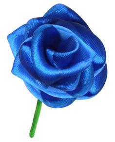 Ribbon Rose - Learn how to make this beautiful rose out of ribbon, with step by step instructions.