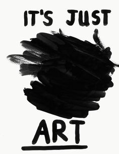 It's just art. Ian Stevenson