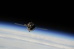 https://flic.kr/p/gaDHEQ | Soyuz TMA-10M Spacecraft Approaches Station for Docking | ISS037-E-002643 (25 Sept. 2013) --- The Soyuz TMA-10M spacecraft approaches the International Space Station, carrying Expedition 37 Soyuz Commander Oleg Kotov, NASA Flight Engineer Michael Hopkins and Russian Flight Engineer Sergey Ryazanskiy. The Soyuz docked to the Poisk Mini-Research Module 2 (MRM2) at 10:45 p.m. (EDT) on Sept. 25, 2013.