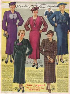 Vintage fashion Lane Bryant ad from the 1930s #1930sfashion #lanebryant
