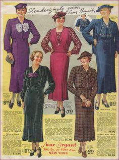 Vintage fashion Lane Bryant ad from the 1930s #1930sfashion #lanebryant