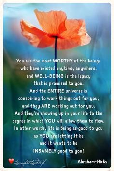 You are the most worthy of beings.