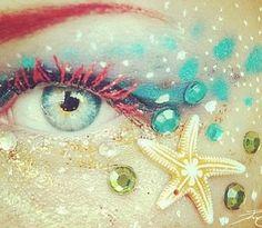 Mermaid makeup. Wanna do for halloween maybe