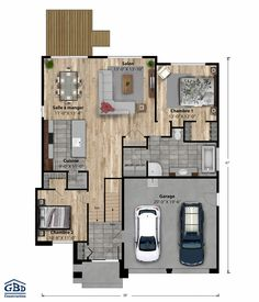 Fine Plan Maison Design Etage that you must know, You?re in good company if you?re looking for Plan Maison Design Etage House Layout Plans, Small House Plans, House Layouts, House Floor Plans, Contemporary House Plans, Modern House Design, Carriage House Plans, 4 Bedroom House Plans, Traditional House Plans