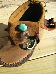 NEW White Owl Medicine Moccasins by TreadLightGear on Etsy from TreadLightGear on Etsy. Saved to clothes. Leather Moccasins, Leather Shoes, Western Wear For Women, Vintage Hippie, How To Make Shoes, Leather Projects, Native American Indians, Gifts For Boys, Leather Working