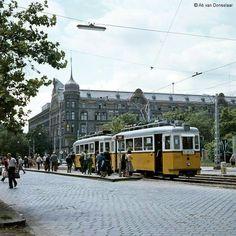 1970-es évek. Dráva utca Váci út kereszteződés.