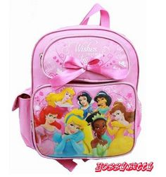 """12"""" Small Backpack - Disney Princess Pink - 7 Princess with Bow in Toys & Hobbies, TV, Movie & Character Toys, Disney   eBay"""