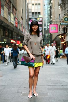 On the Street…..Theatre Lane, Hong Kong « The Sartorialist. I really want weather that would allow this, today.