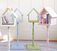 how cute! a birdhouse side table for your tweetheart <3 :)