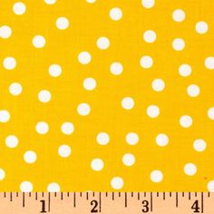 Remix Polka Dots Summer from @fabricdotcom  Designed by Ann Kelle for Kaufman Fabrics, this cotton print fabric is perfect for quilting, apparel and home décor accents. Colors include summer yellow and white.