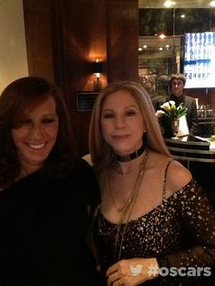 Barbra Streisand & Donna Karen backstage at the Oscars, 2013